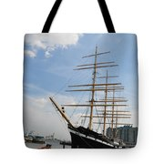 Tall Ship Mushulu at Penns Landing Tote Bag by Bill Cannon