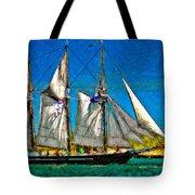 Tall Ship paint  Tote Bag by Steve Harrington