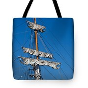 Tall Ship Rigging Tote Bag by Art Block Collections