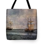 Tall Ships Tote Bag by Dale Kincaid