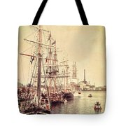 Tall Ships Tote Bag by Joel Witmeyer