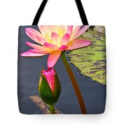 Tall Waterlily Beauty Tote Bag by Byron Varvarigos
