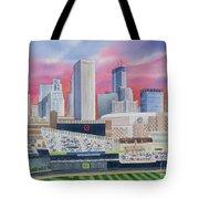 Target Field Tote Bag by Deborah Ronglien