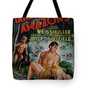 Tarzan And The Amazons Tote Bag by Georgia Fowler