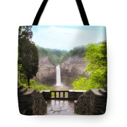 Taughannock Falls Tote Bag by Jessica Jenney