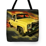 Taxicab Repair 1974 gmc Tote Bag by Blake Richards