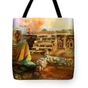 Taxilla UNESCO World Heritage Site Tote Bag by Catf