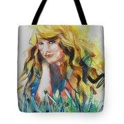 Taylor Swift Tote Bag by Chrisann Ellis