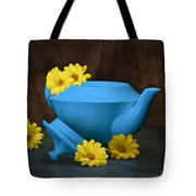 Tea Kettle With Daisies Still Life Tote Bag by Tom Mc Nemar