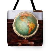 Teacher - Globe On Piano Tote Bag by Susan Savad