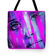 Tears - Purple Tote Bag by Richard Tito