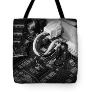 Technology - Motherboard In Black And White Tote Bag by Paul Ward