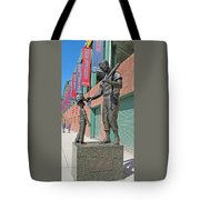 Ted Williams Statue Tote Bag by Barbara McDevitt