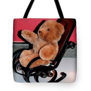 Teddy's Chair - Toy - Children Tote Bag by Barbara Griffin