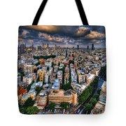 Tel Aviv Lookout Tote Bag by Ron Shoshani