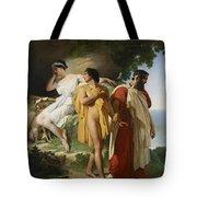 Telemachus And Eucharis Tote Bag by Raymond Quinsac Monvoisin