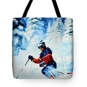 Telemark Trails Tote Bag by Hanne Lore Koehler
