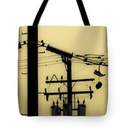 Telephone Pole And Sneakers 5 Tote Bag by Scott Campbell