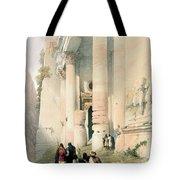 Temple Called El Khasne Tote Bag by David Roberts