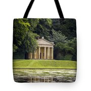 Temple Of Piety Tote Bag by Chris Smith