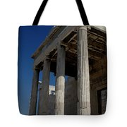 Temple Of The Athena Nike Tote Bag by Lorraine Devon Wilke