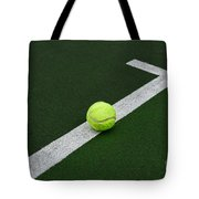 Tennis - The Baseline Tote Bag by Paul Ward