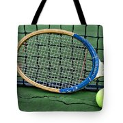 Tennis - Vintage Tennis Racquet Tote Bag by Paul Ward
