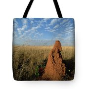 Termite Mound In Cerrado Grassland Emas Tote Bag by Tui De Roy
