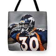 Terrell Davis  Tote Bag by Don Medina