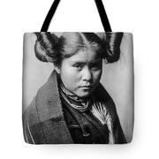 Tewa Girl Tote Bag by Aged Pixel