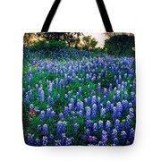Texas Bluebonnet Field Tote Bag by Inge Johnsson