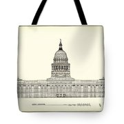 Texas State Capitol Architectural Design Tote Bag by Mountain Dreams