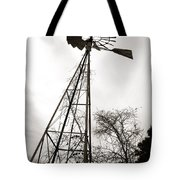 Texas Windmill Tote Bag by Marilyn Hunt