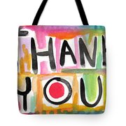 Thank You Card- Watercolor Greeting Card Tote Bag by Linda Woods