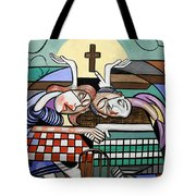 Thank You Jesus When Two Or More Are Gathered Tote Bag by Anthony Falbo