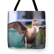 That Nail Is Not My Leg Tote Bag by Kym Backland