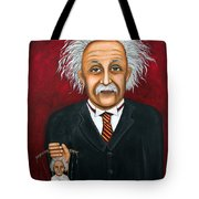 The 2 Einstein's Tote Bag by Leah Saulnier The Painting Maniac