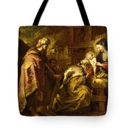 The Adoration Of The Magi Tote Bag by Orazio de Ferrari