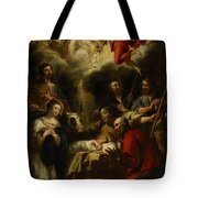 The Adoration Of The Shepherds Tote Bag by Jan Cossiers