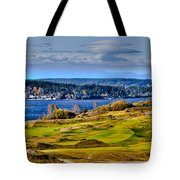 The Amazing Chambers Bay Golf Course - Site Of The 2015 U.s. Open Golf Tournament Tote Bag by David Patterson