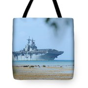 The Amphibious Assault Ship Uss Boxer  Tote Bag by Paul Fearn