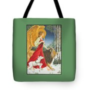 The Angel The Lion And The Lamb Tote Bag by Lynn Bywaters