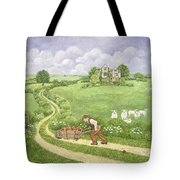 The Apple Barrow Tote Bag by Ditz
