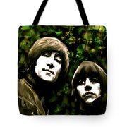 The Art Of Sound  The Beatles Tote Bag by Iconic Images Art Gallery David Pucciarelli