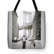 The Artist In New York Tote Bag by Shaun Higson