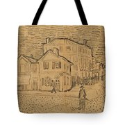 The Artists House in Arles Tote Bag by Vincent Van Gogh
