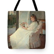 The Artist's Sister At A Window Tote Bag by Berthe Morisot