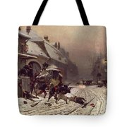 The Attack At Dawn Tote Bag by Alphonse Marie De Neuville