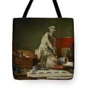 The Attributes Of The Arts And The Rewards Which Are Accorded Them Tote Bag by Jean Baptiste Simeon Chardin
