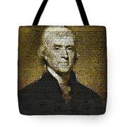 The Author of America Tote Bag by Bill Cannon